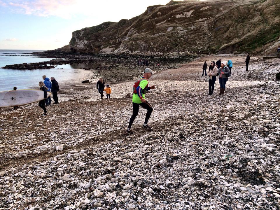 Final few metres of beach.  Keep going!